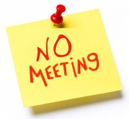 NO MEETING HOLY WEEK
